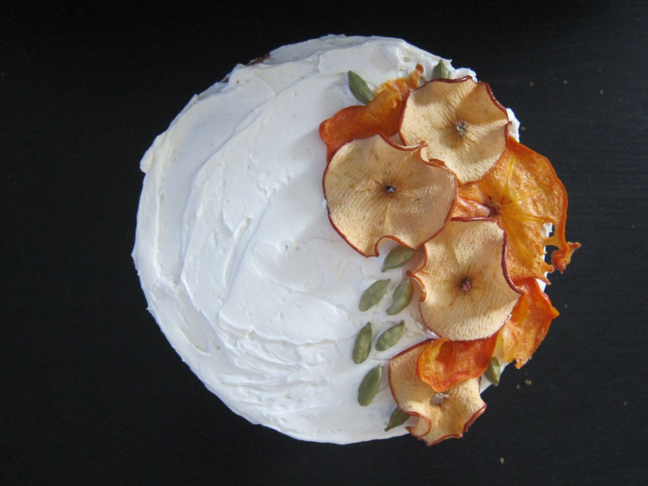 Apple Persimmon Cardamom Cake