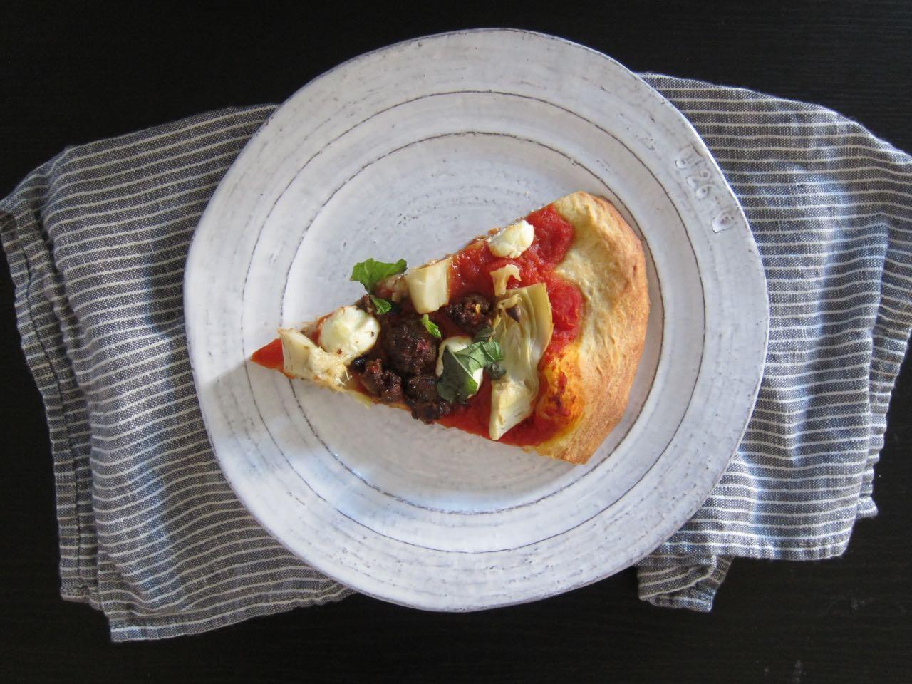 Merguez Pizza Slice