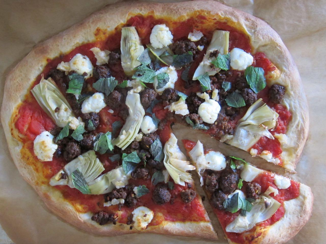 Merguez Sausage Pizza