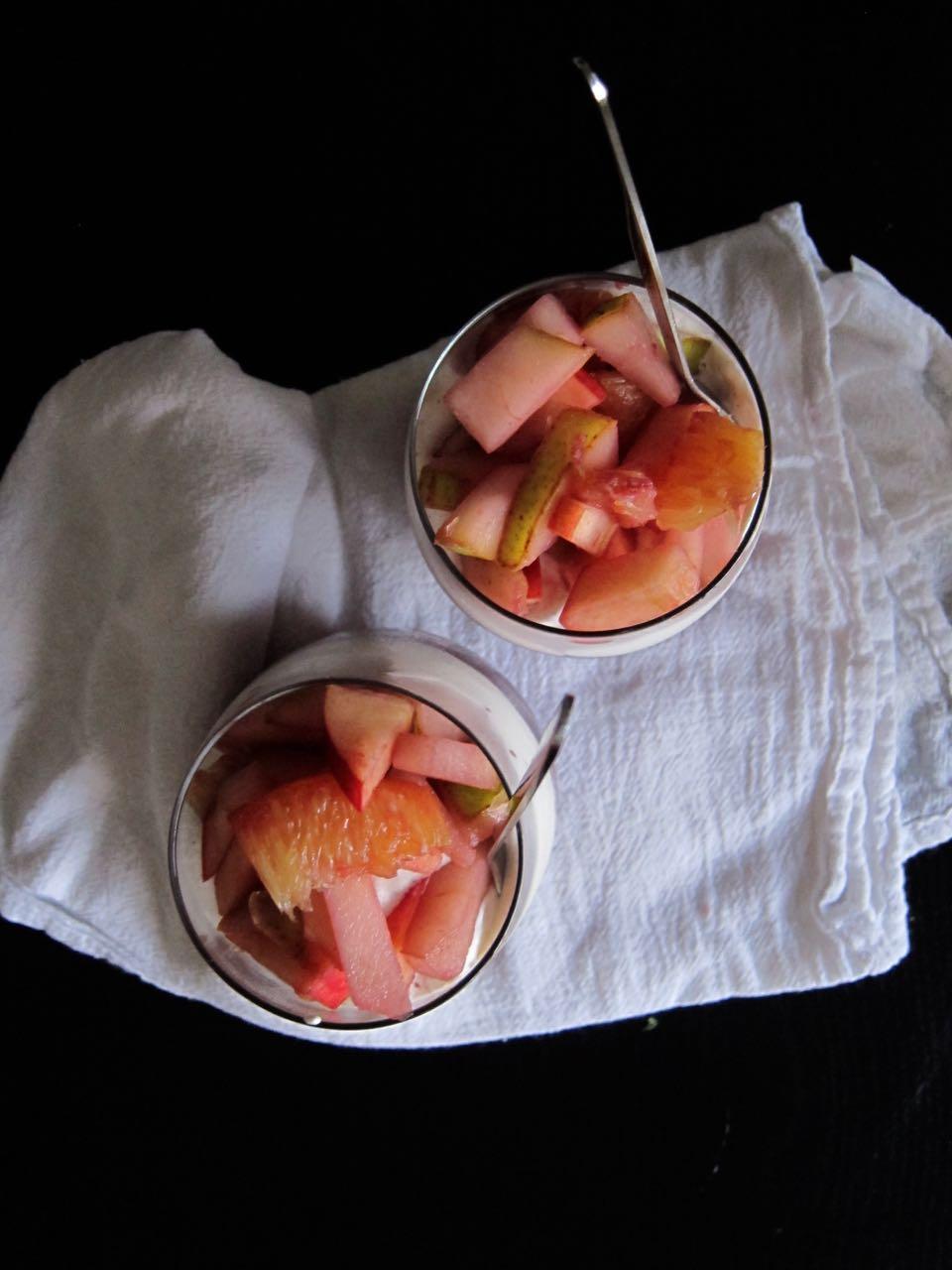 Chai Sangria Granita with Boozy Fruit