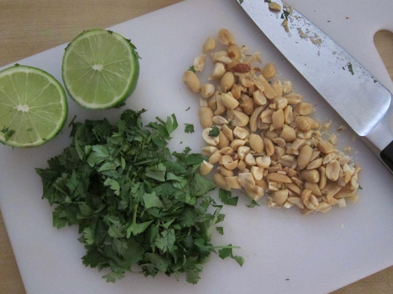 Cilantro Peanut Lime Garnishes