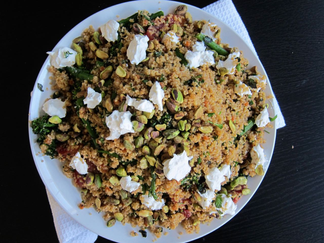 Two Couscous Salad with Labneh