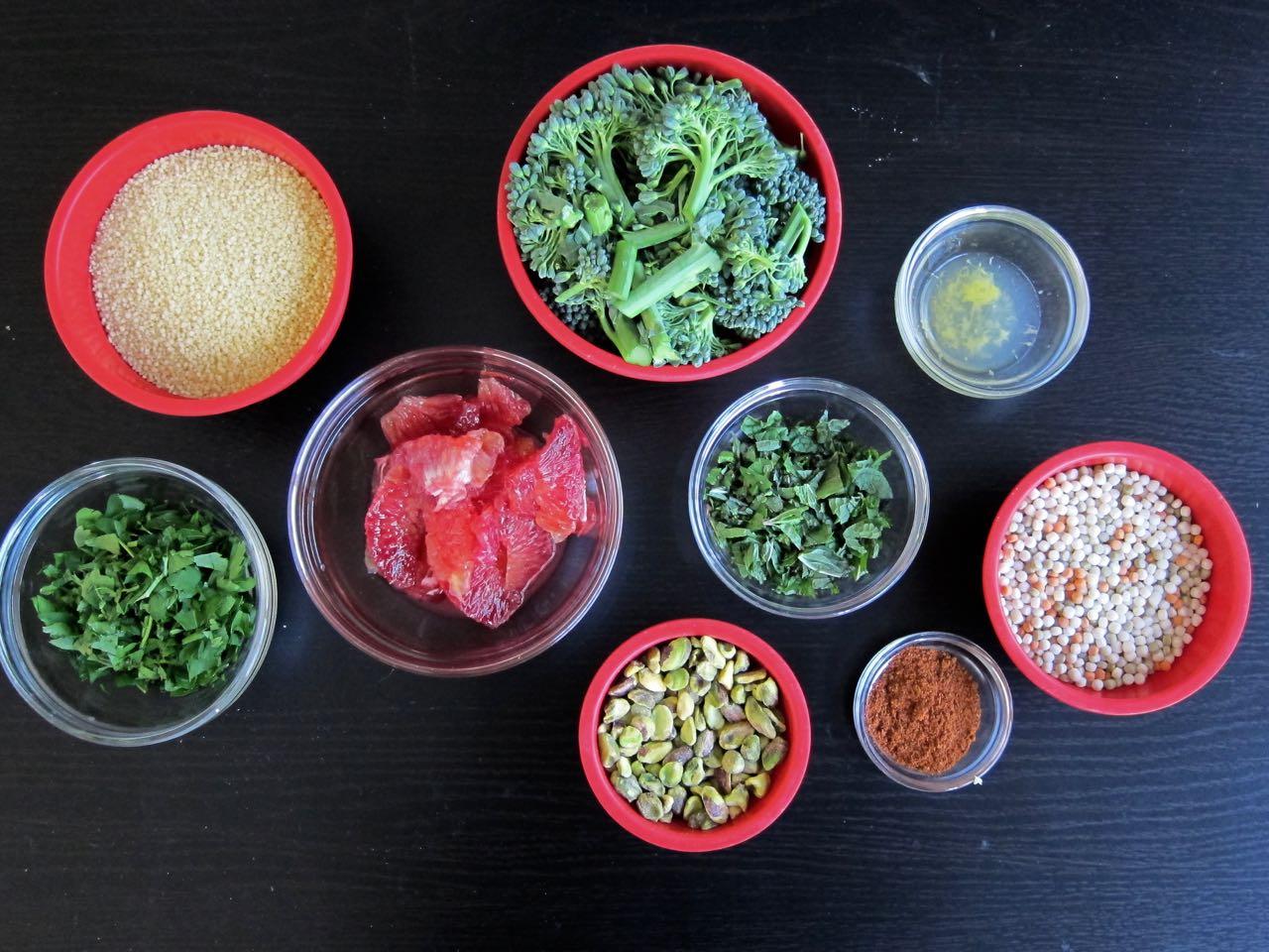 Cous Cous salad components