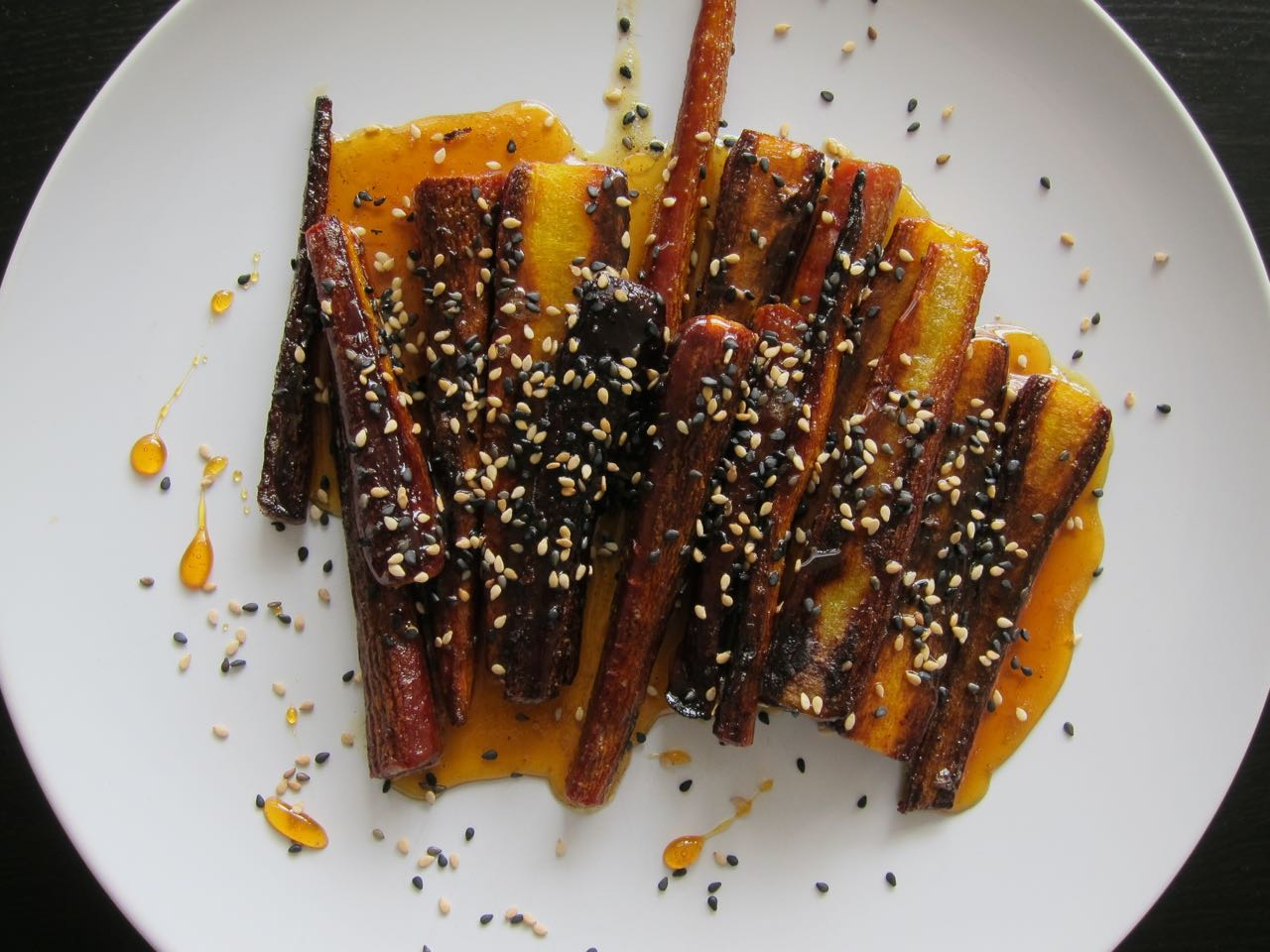 Sesame and Burnt Honey Carrots