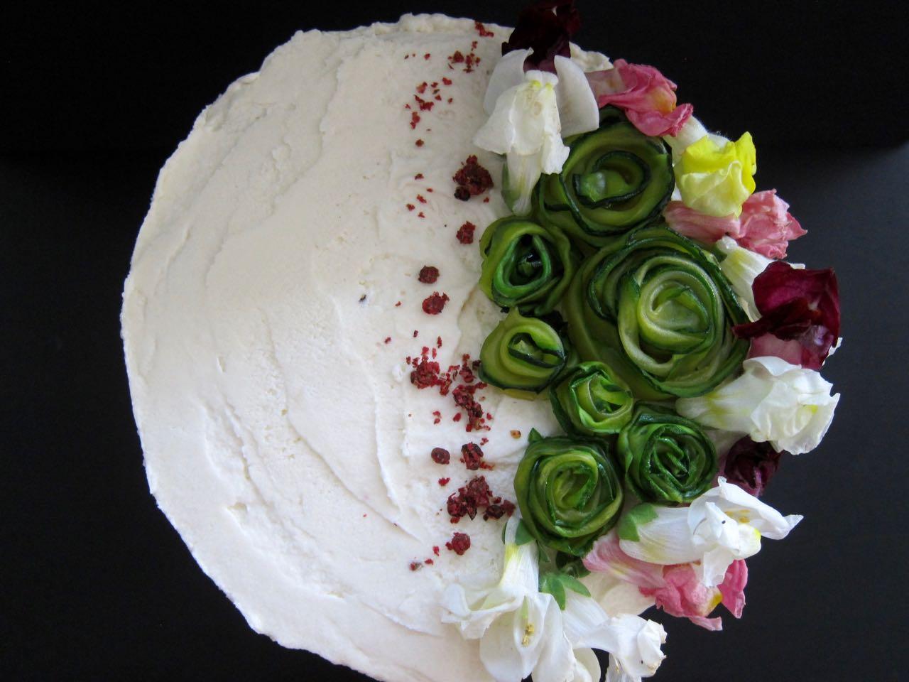 Chocolate Zucchini cake toppers