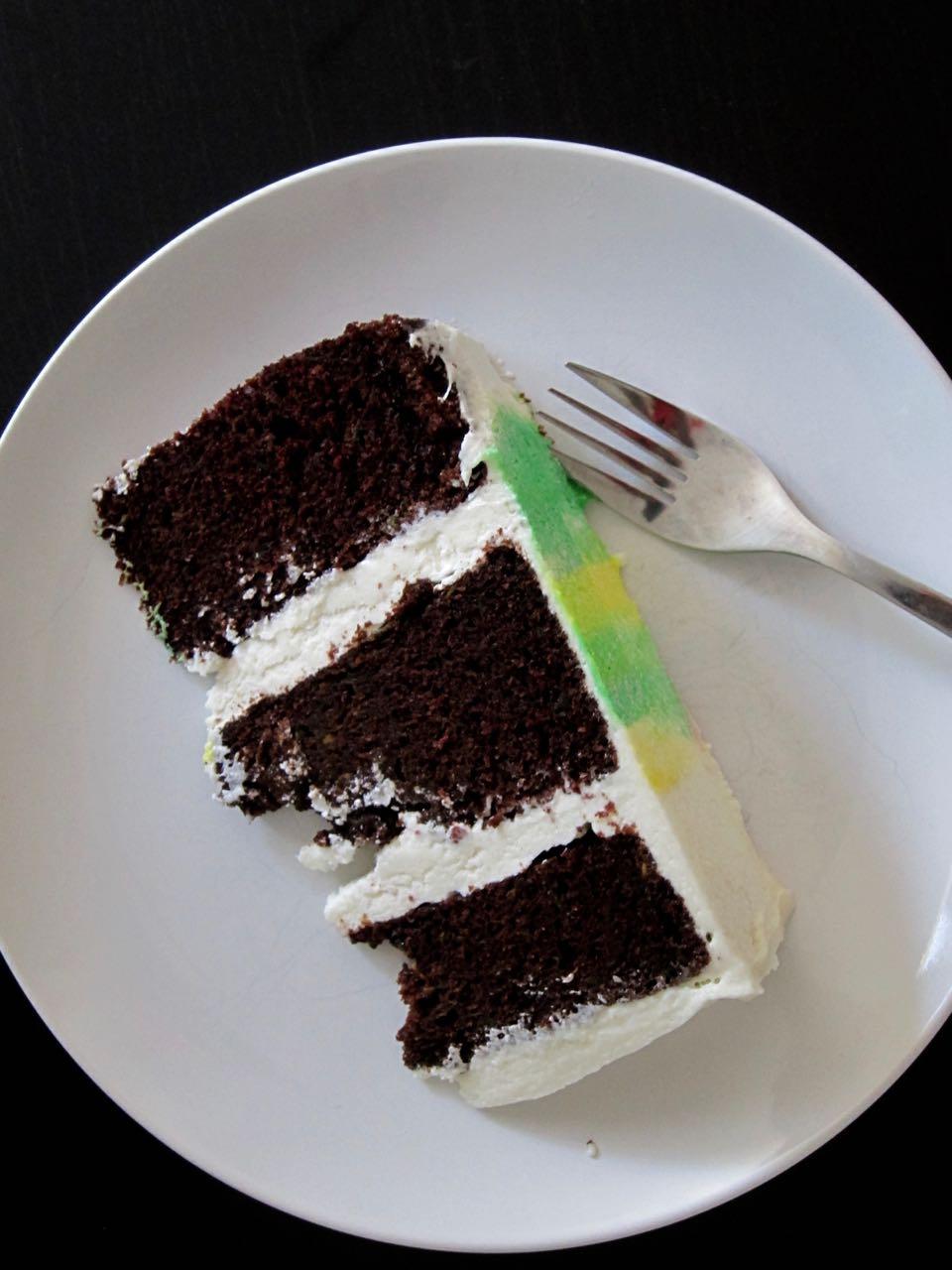 sliced chocolate zucchini cake