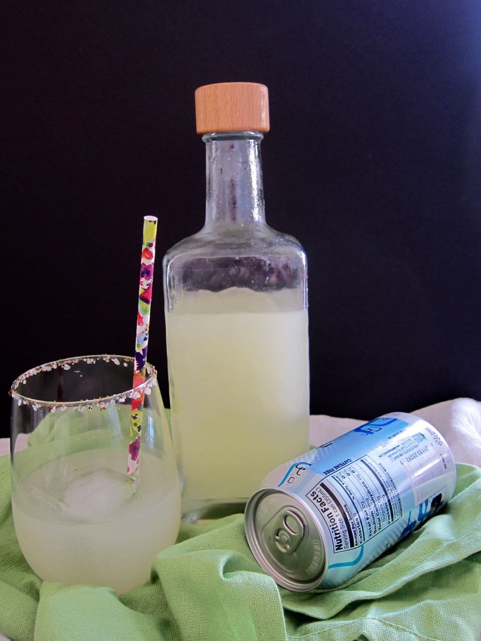 margarita mix and fizzy water