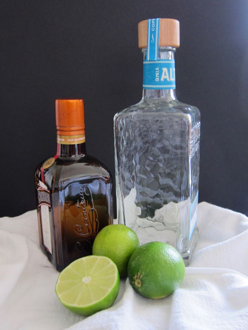cointreau tequila and limes
