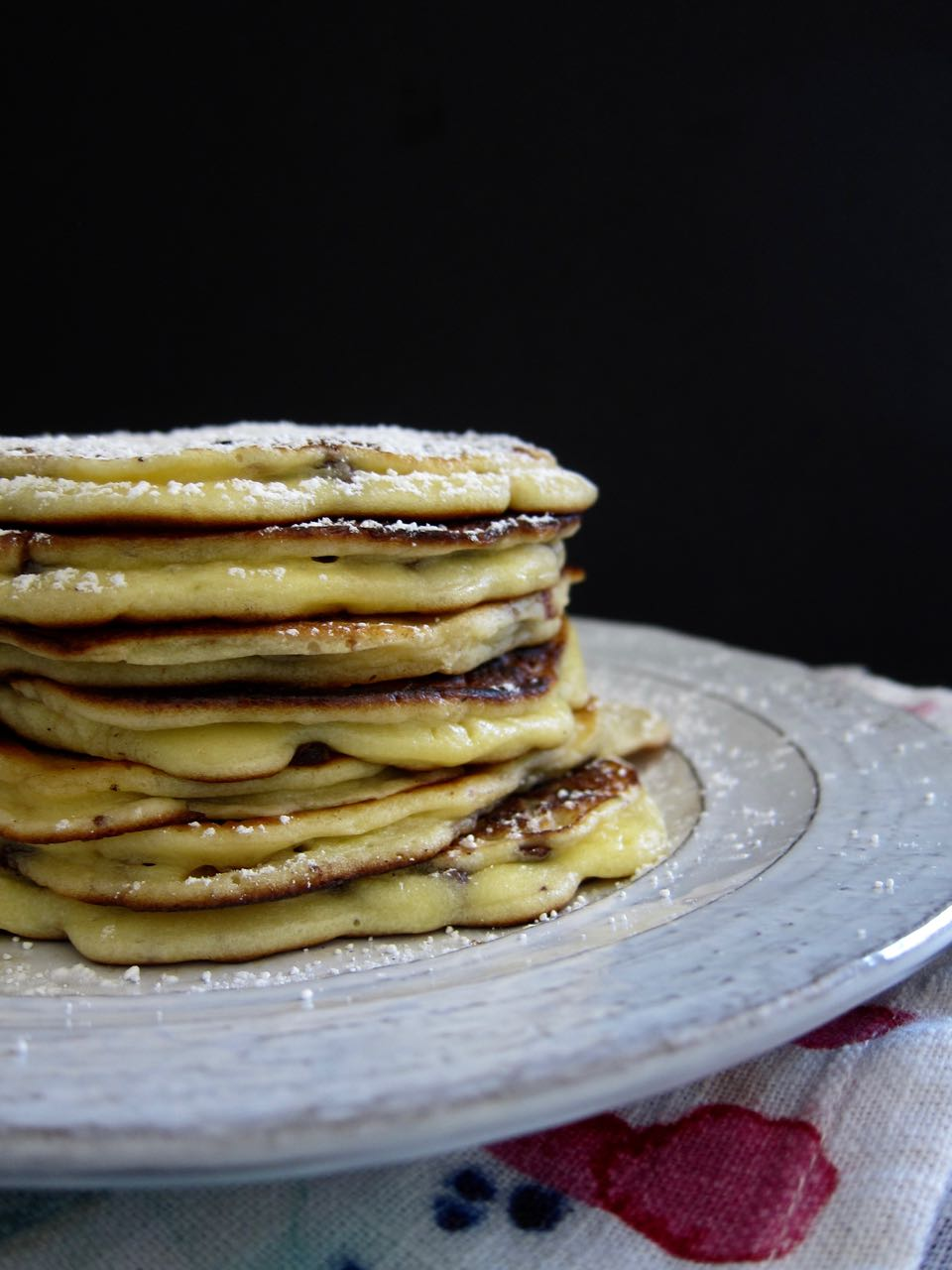 Stacked Cannoli Pancakes