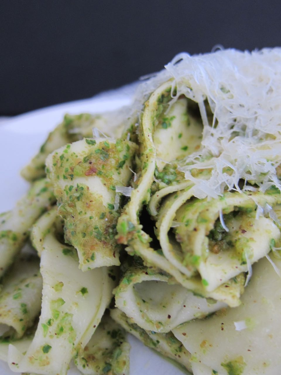 Brussels Sprout Pesto Pasta