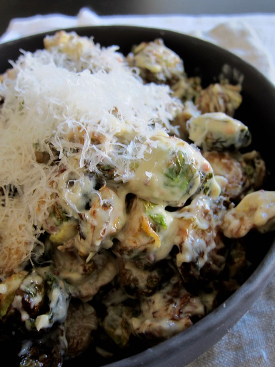 Caesar Fried Brussels Sprouts