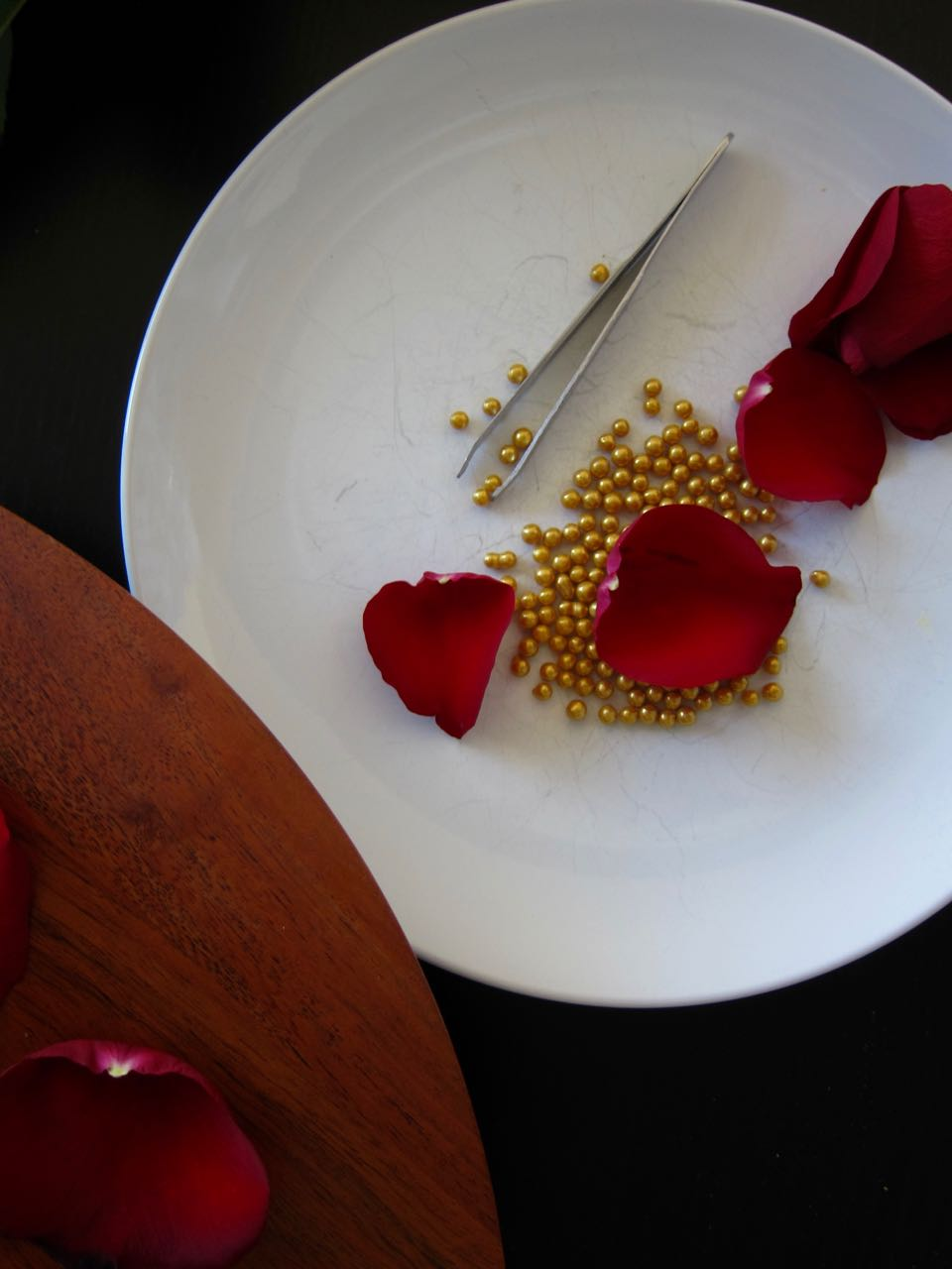 Petals and gold sprinkles