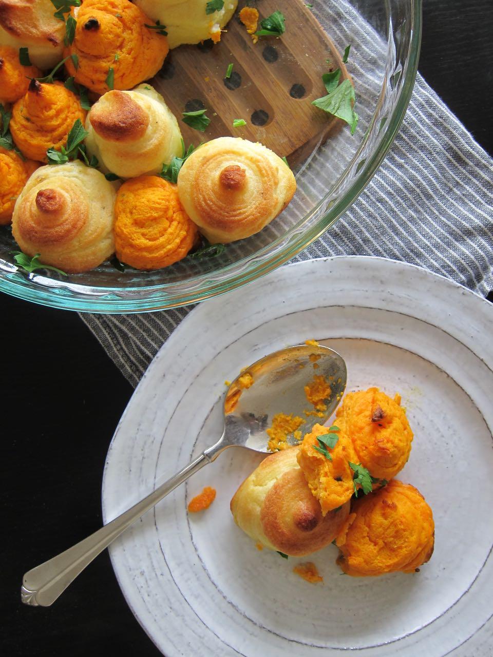 mixed pommes duchesse