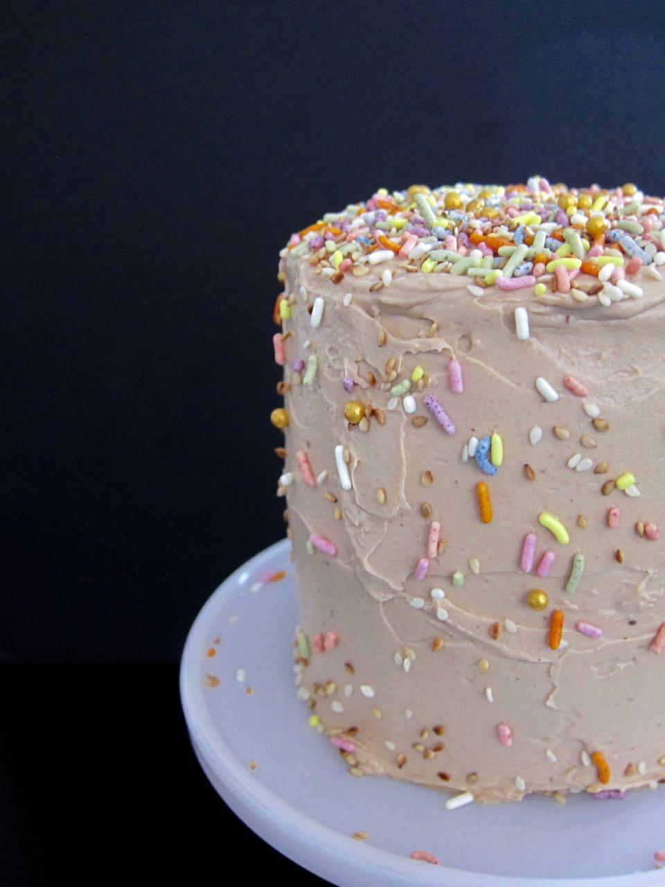 Chocolate, Halva, Tahini Cake