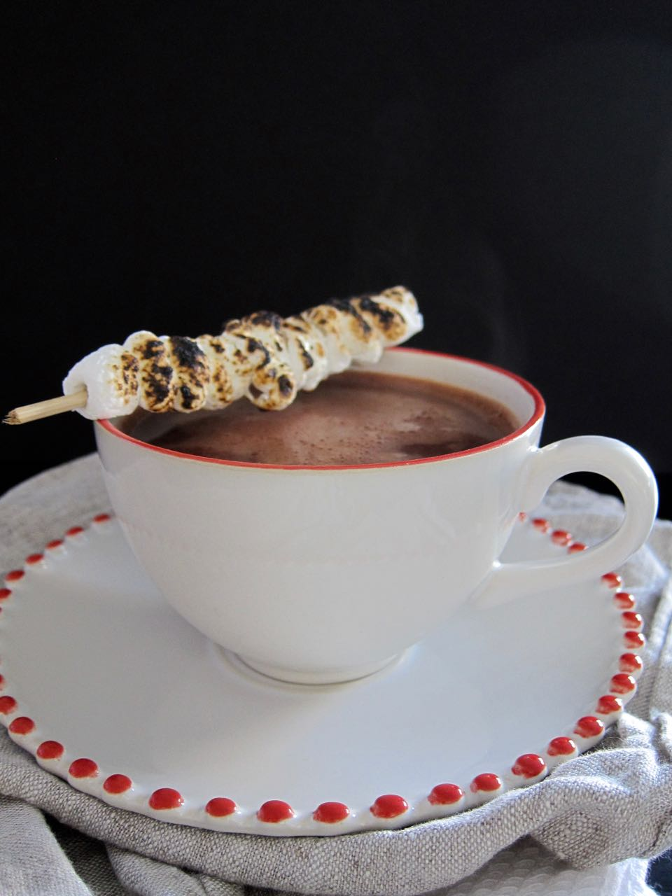 Lapsang Souchong hot chocolate