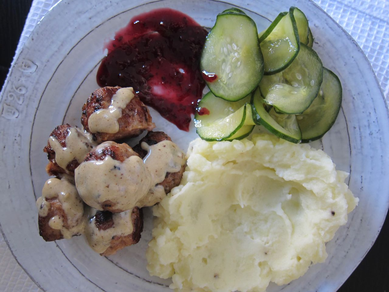 swedish meatballs and potato mash