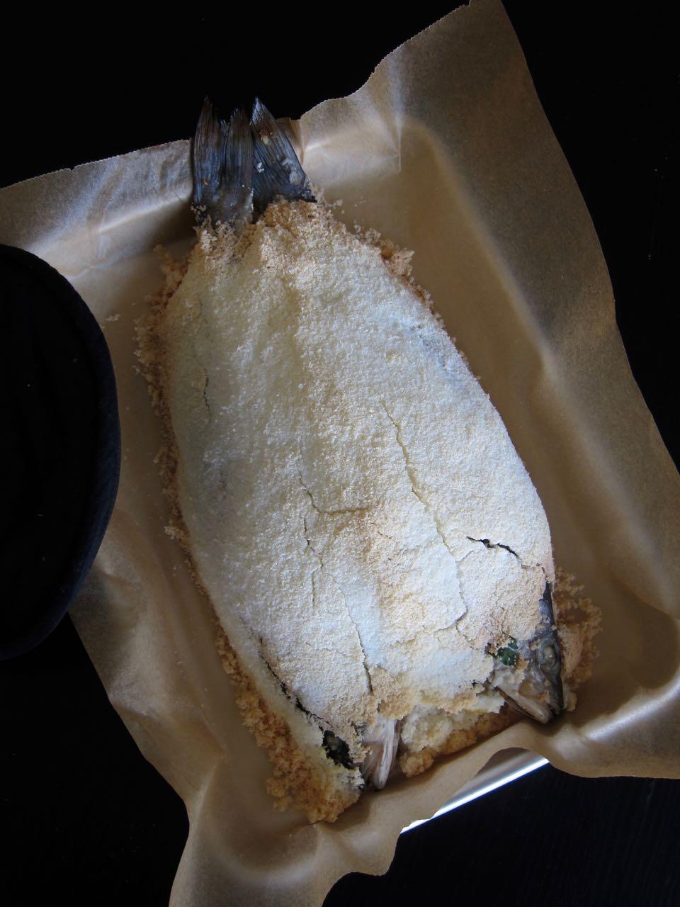 Salt Baked Whole Fish