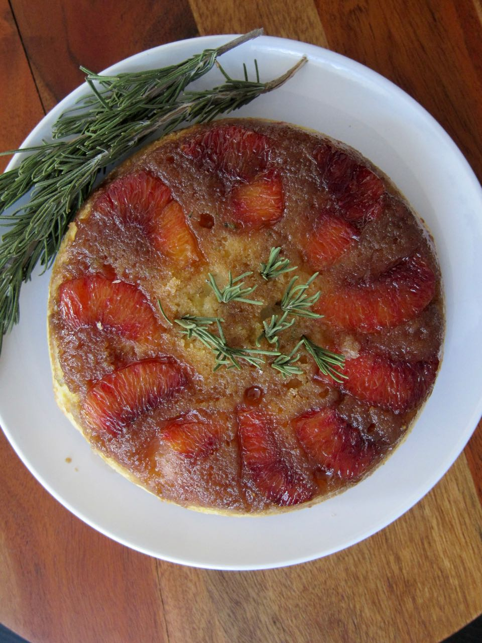 rosemary blood orange upside down cake