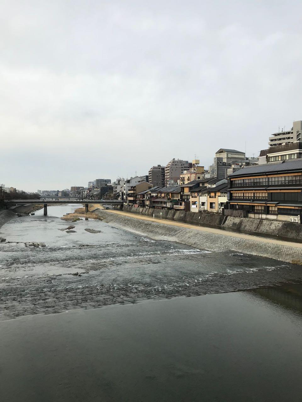 Kyoto river view