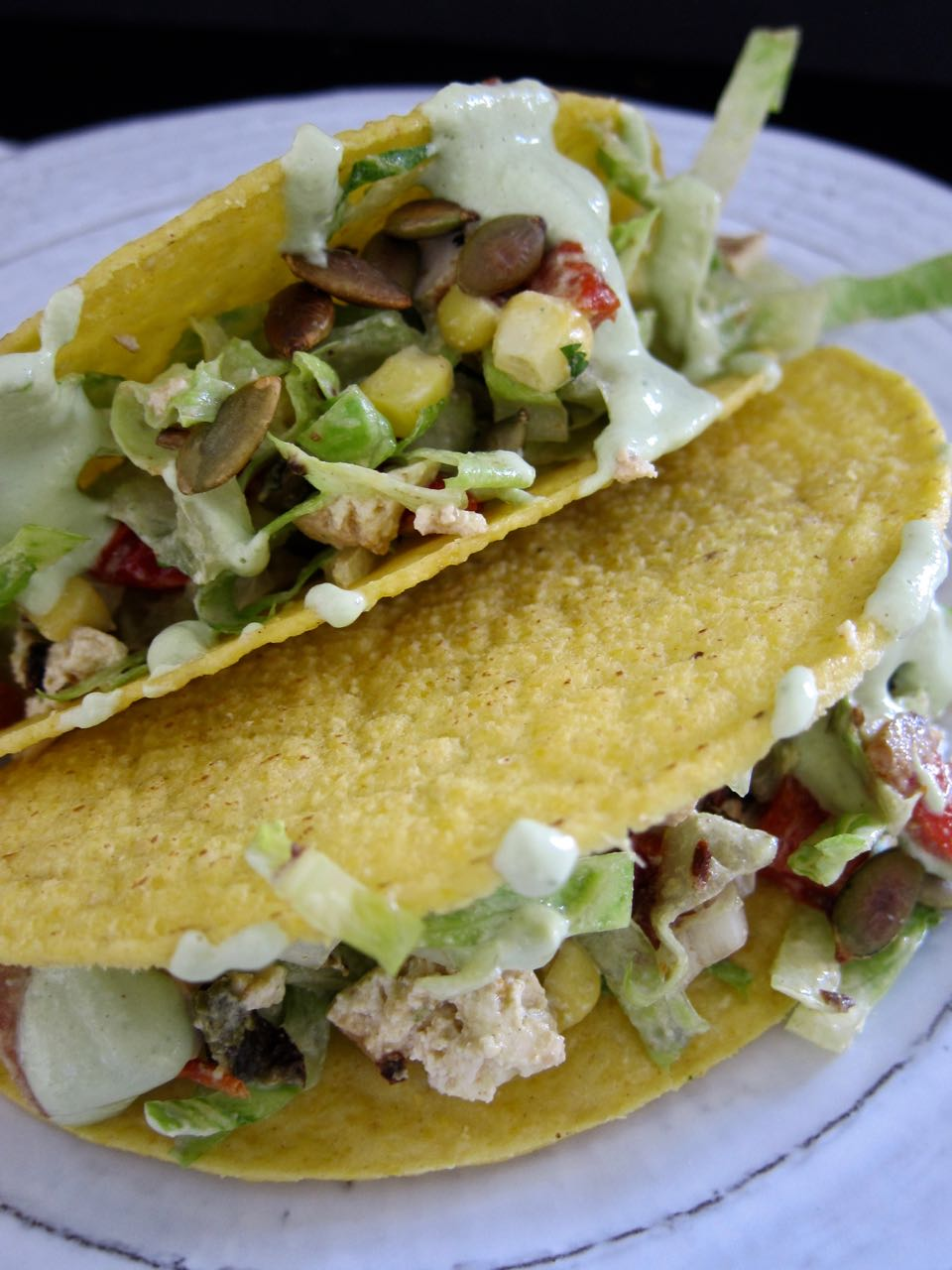 two salad tacos