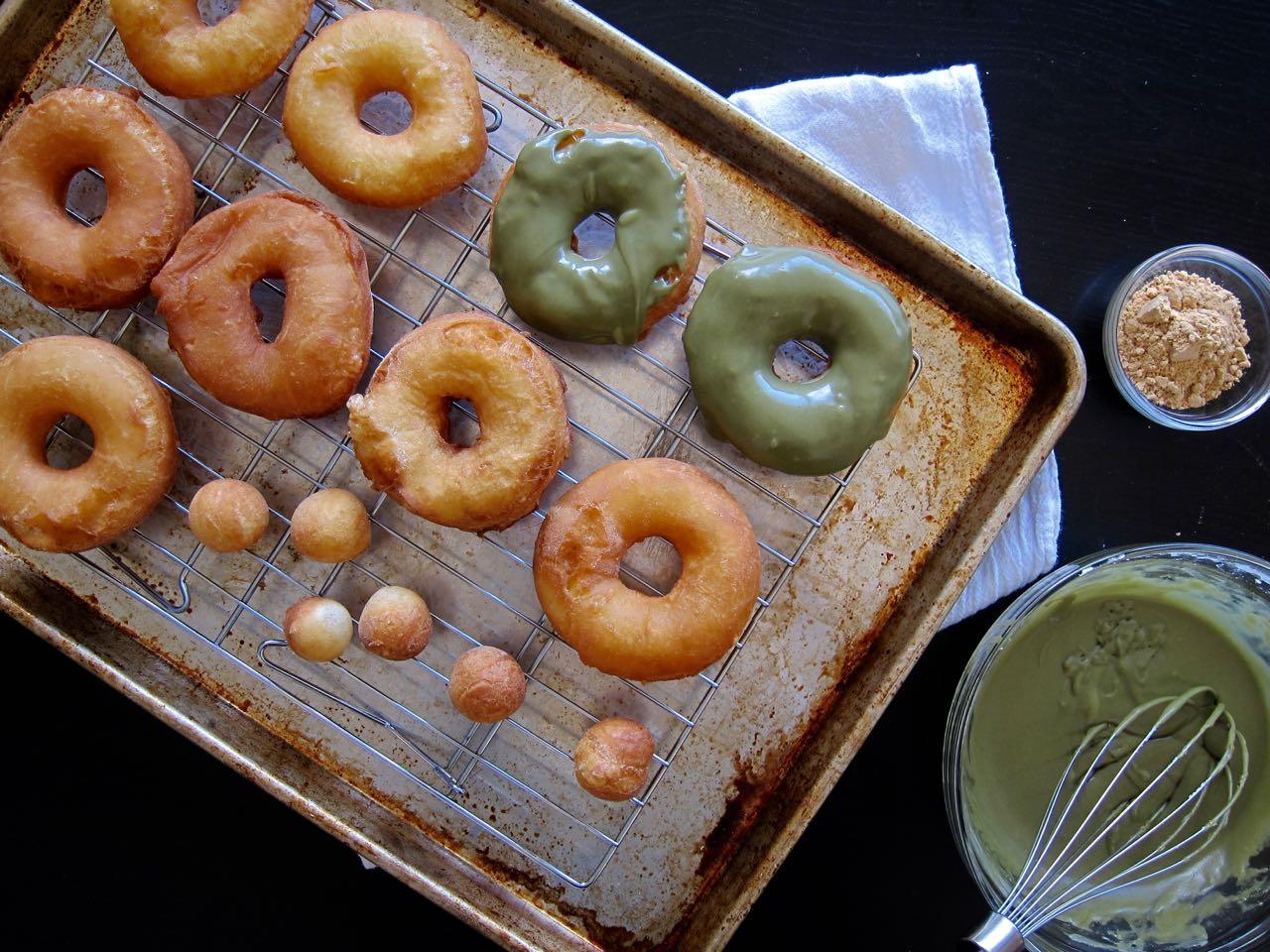 glazing donuts