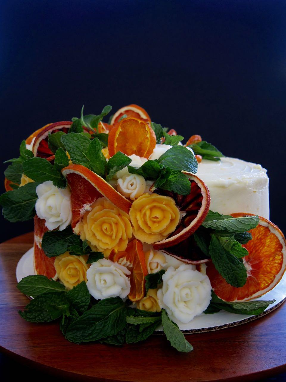 winter citrus mimosa cake