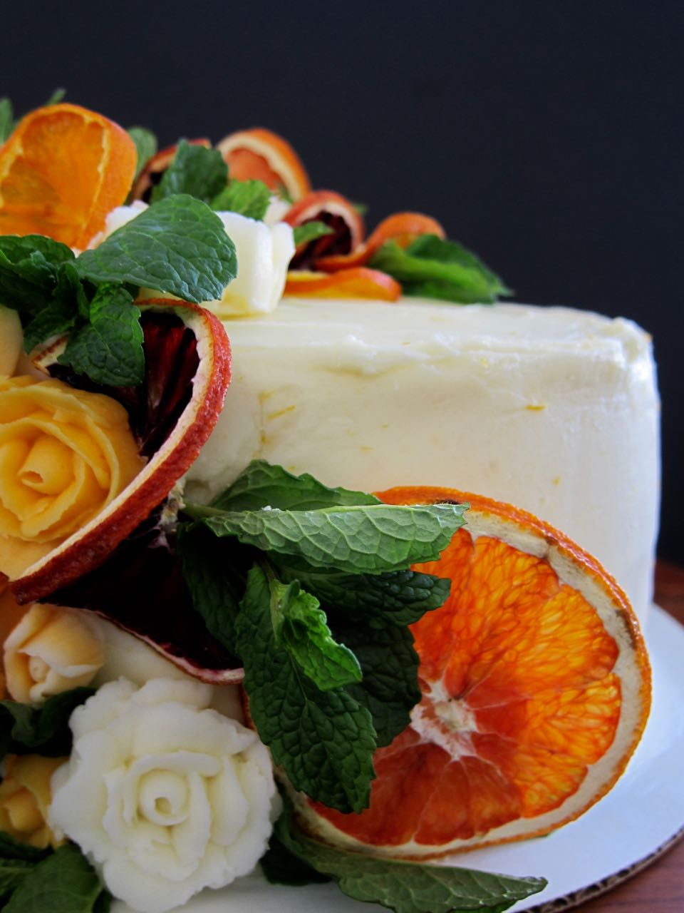 mimosa cake close up