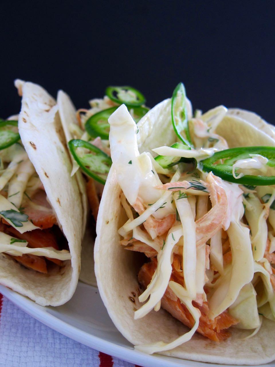 Corned Salmon Tacos
