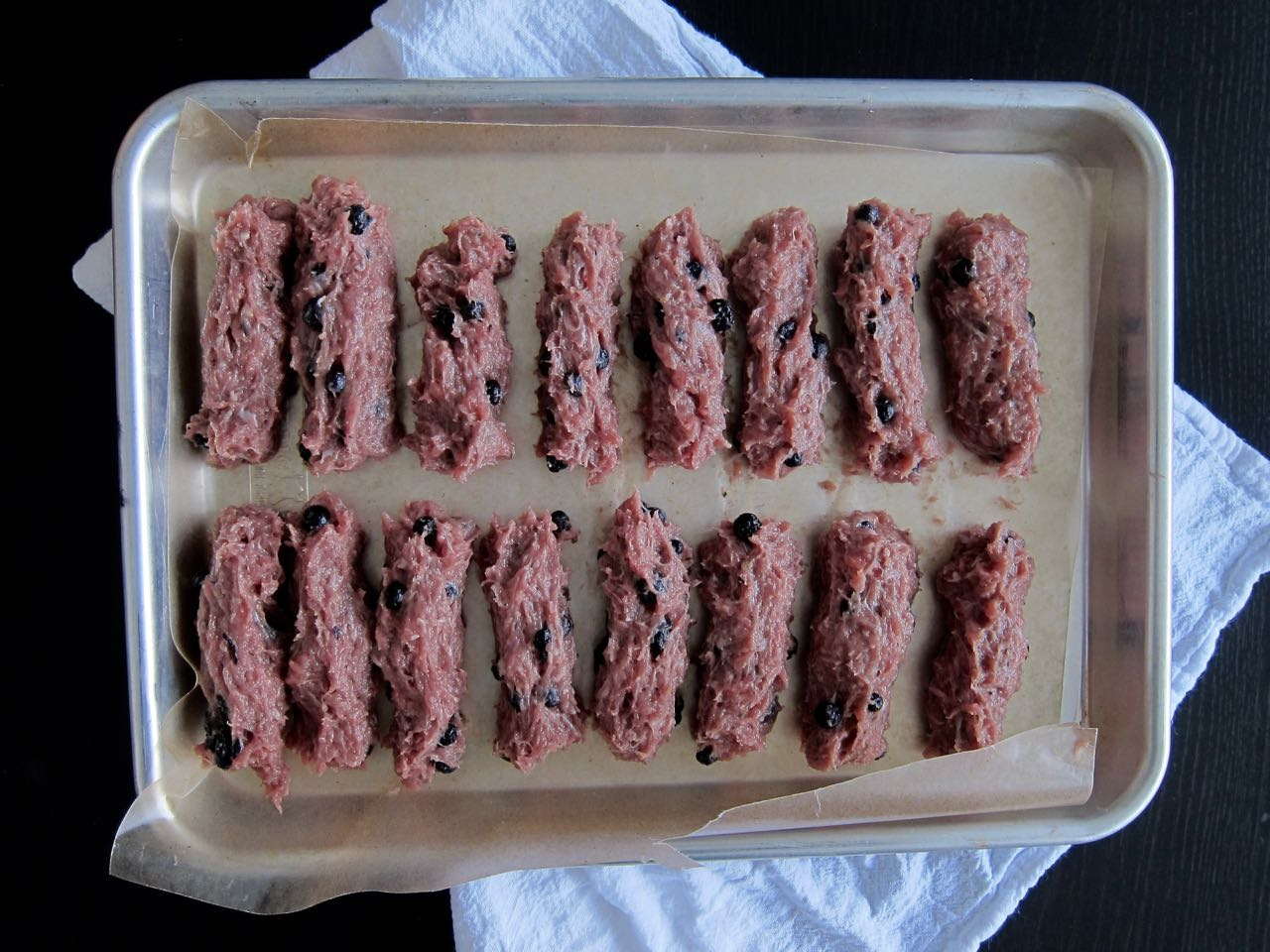 shaping maple blueberry turkey sausages.jpg