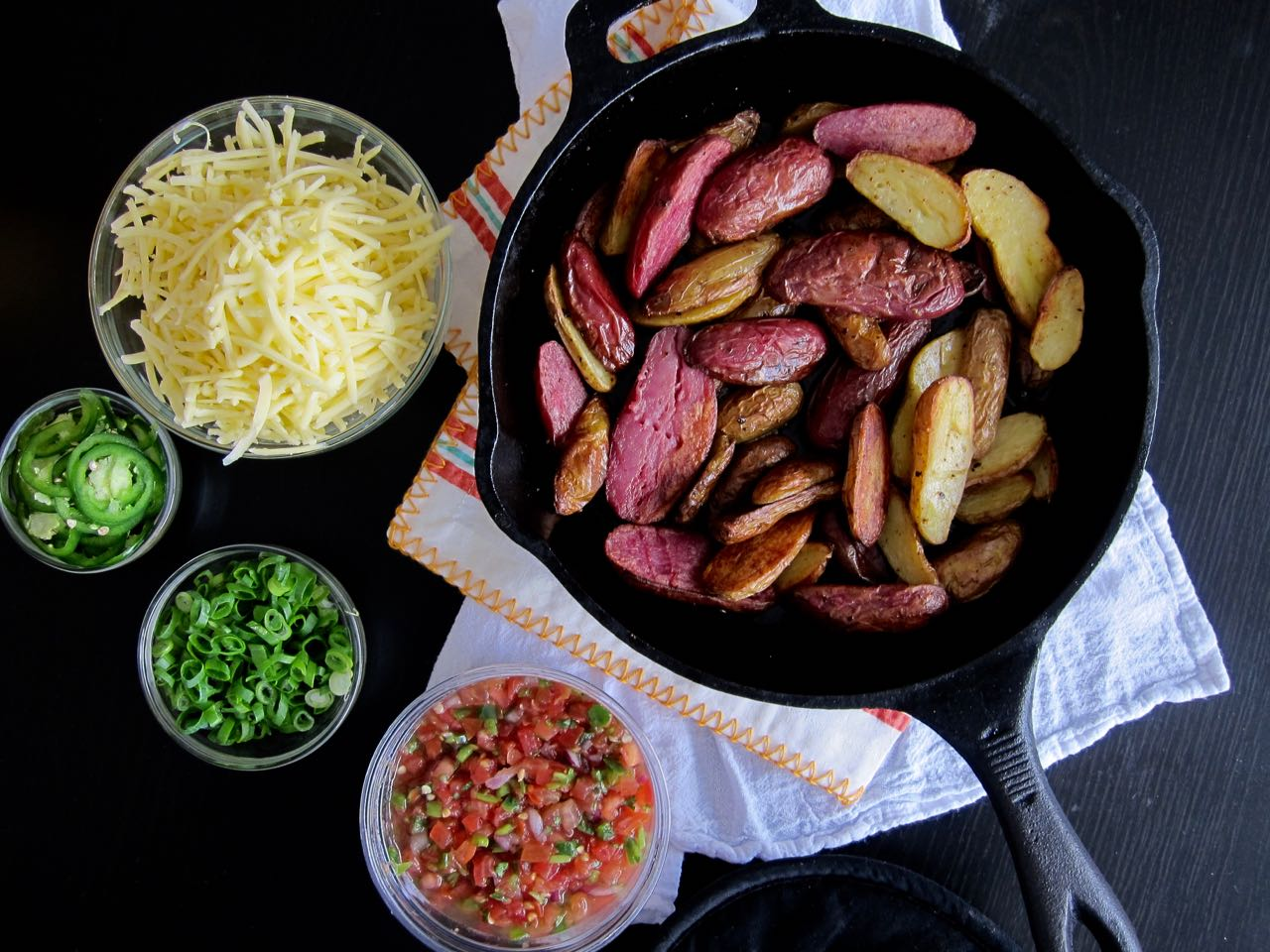 Oven Roasted Potatoes and Nacho Toppings