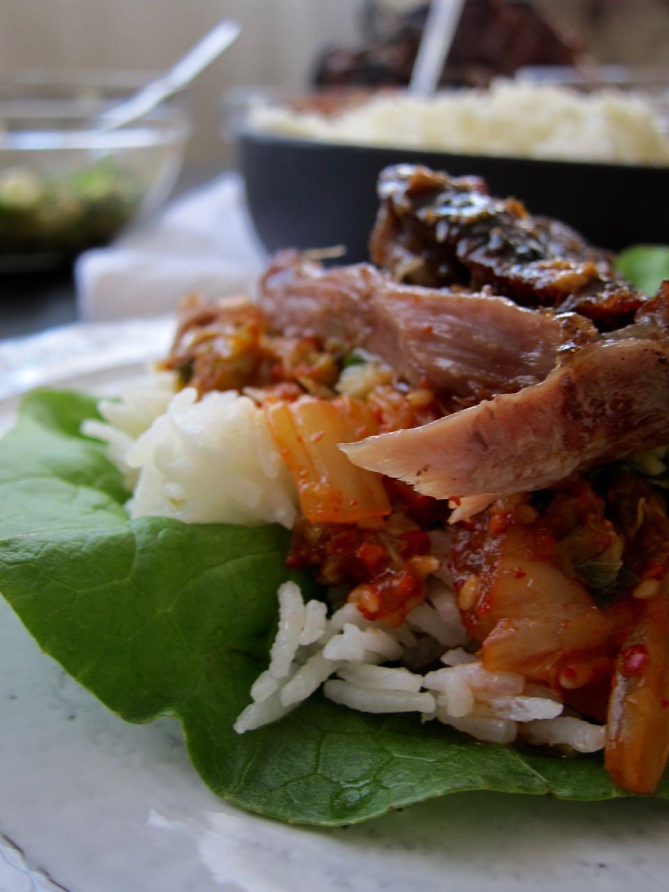 lettuce wrap pork