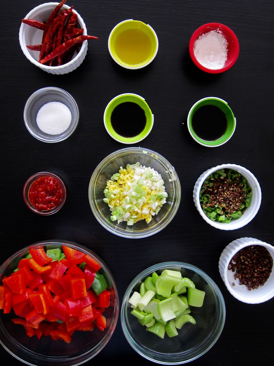 mise en place kung pao