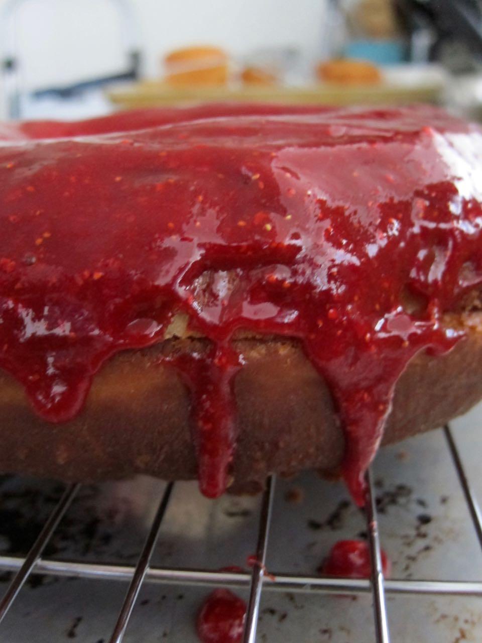 glaze dripping off diant donut