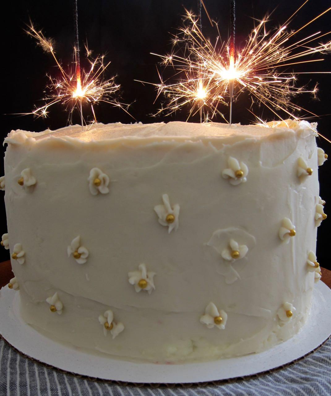sparkler cake