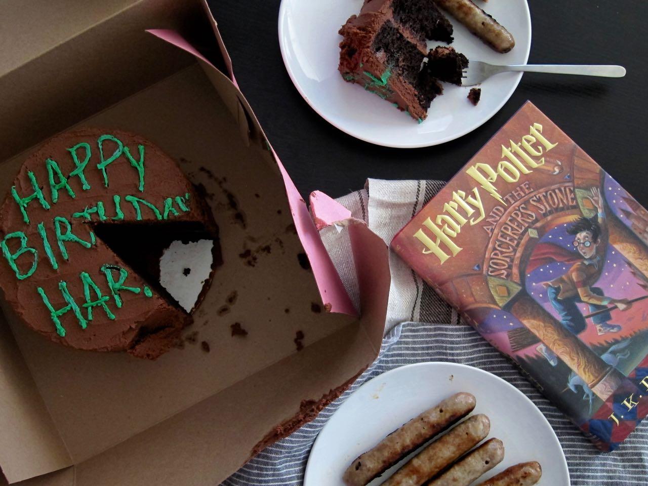 Happy Birthday Harry Chocolate Cake