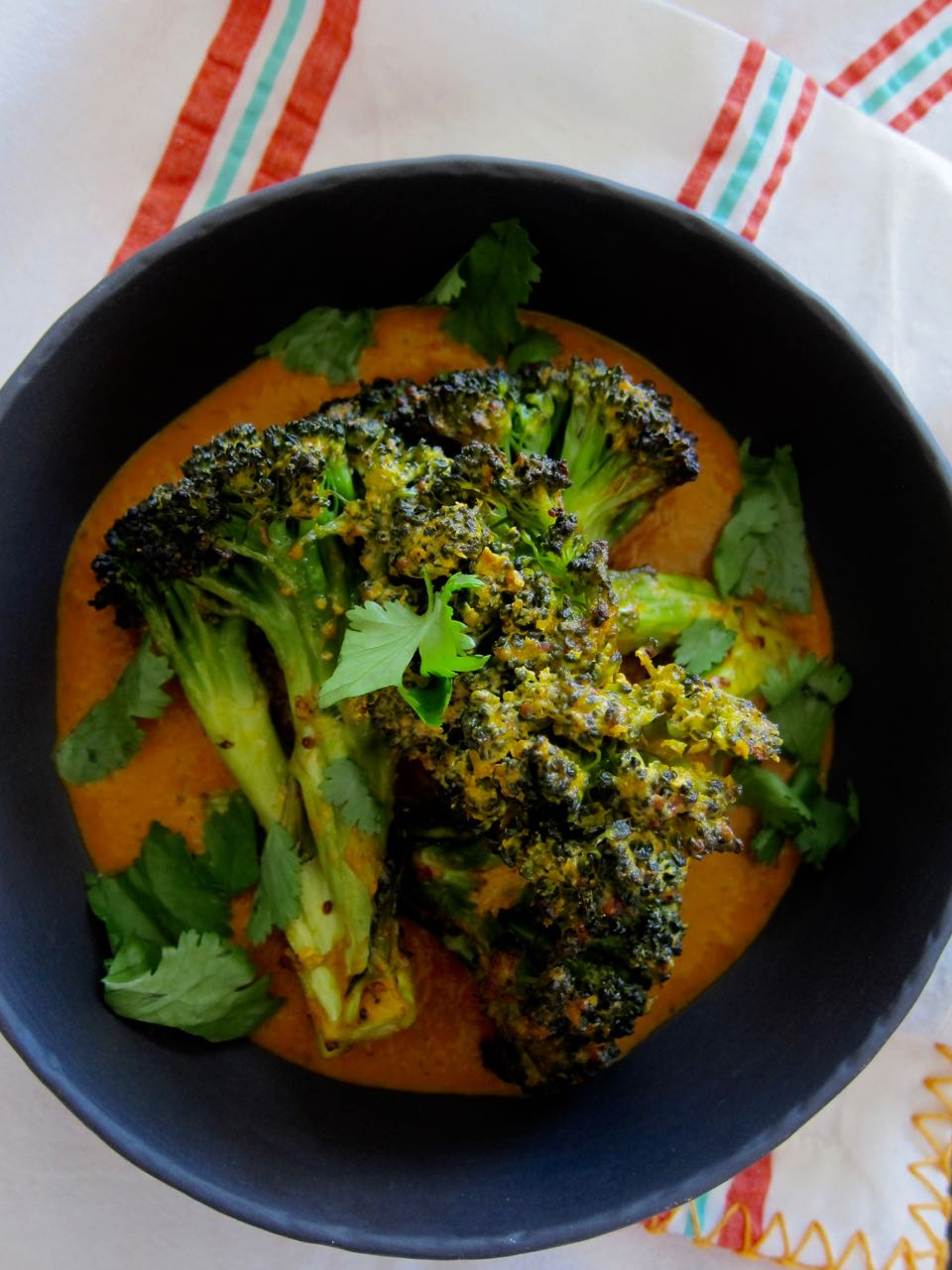 Roasted broccoli & tikka masala