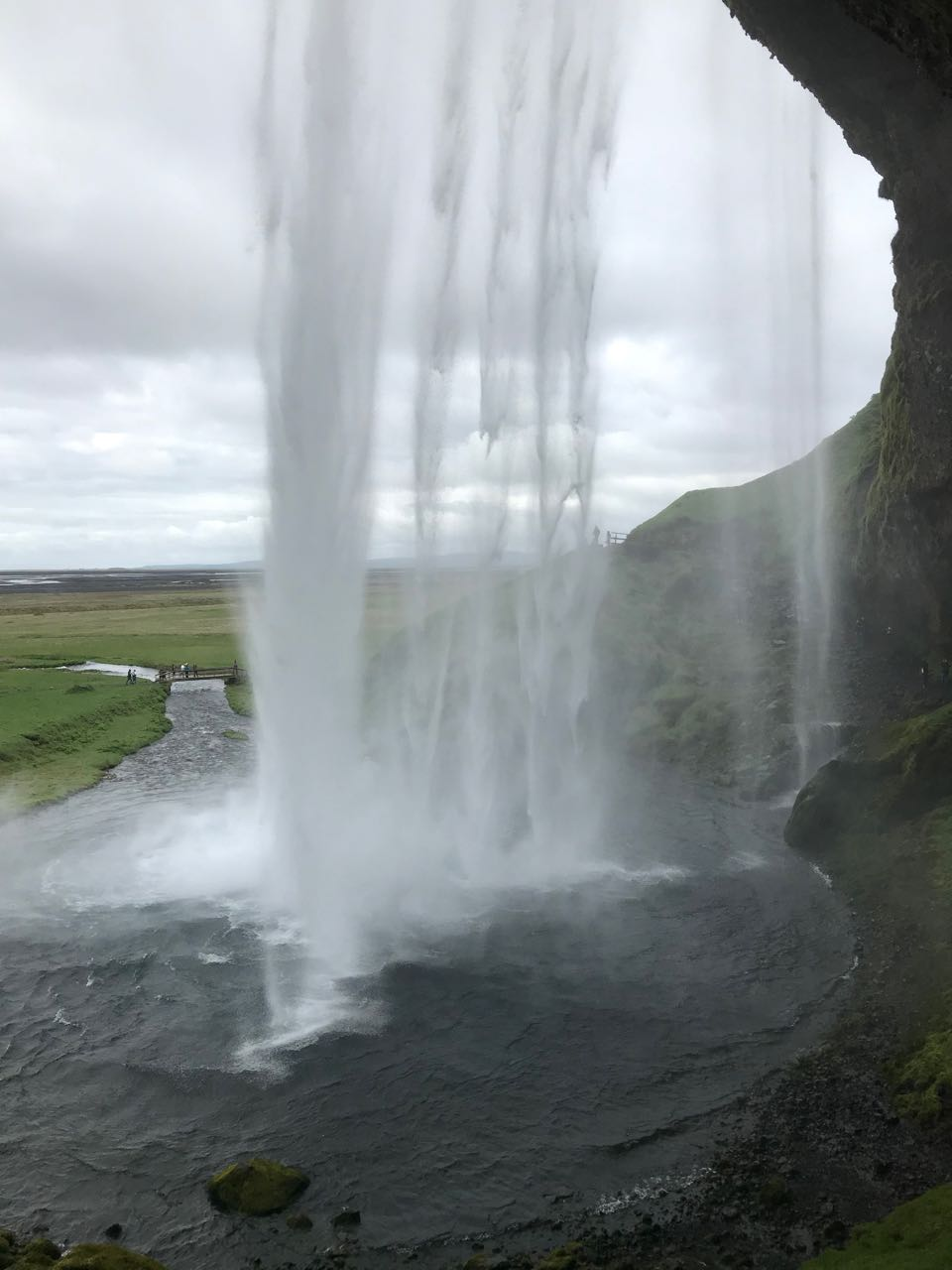 Behind the Falls Iceland