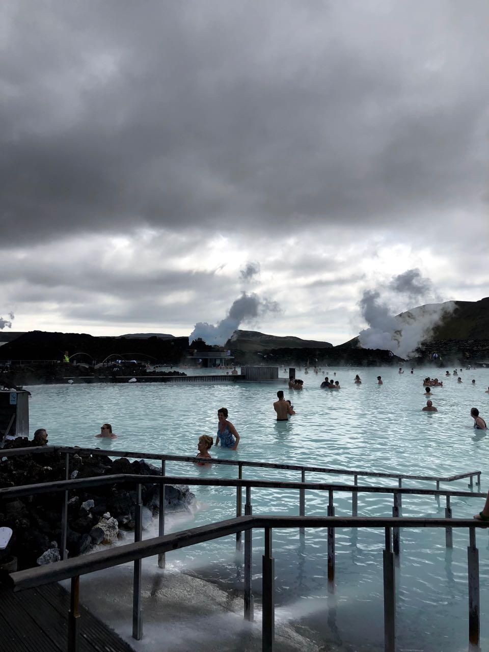 People at Blue Lagoon