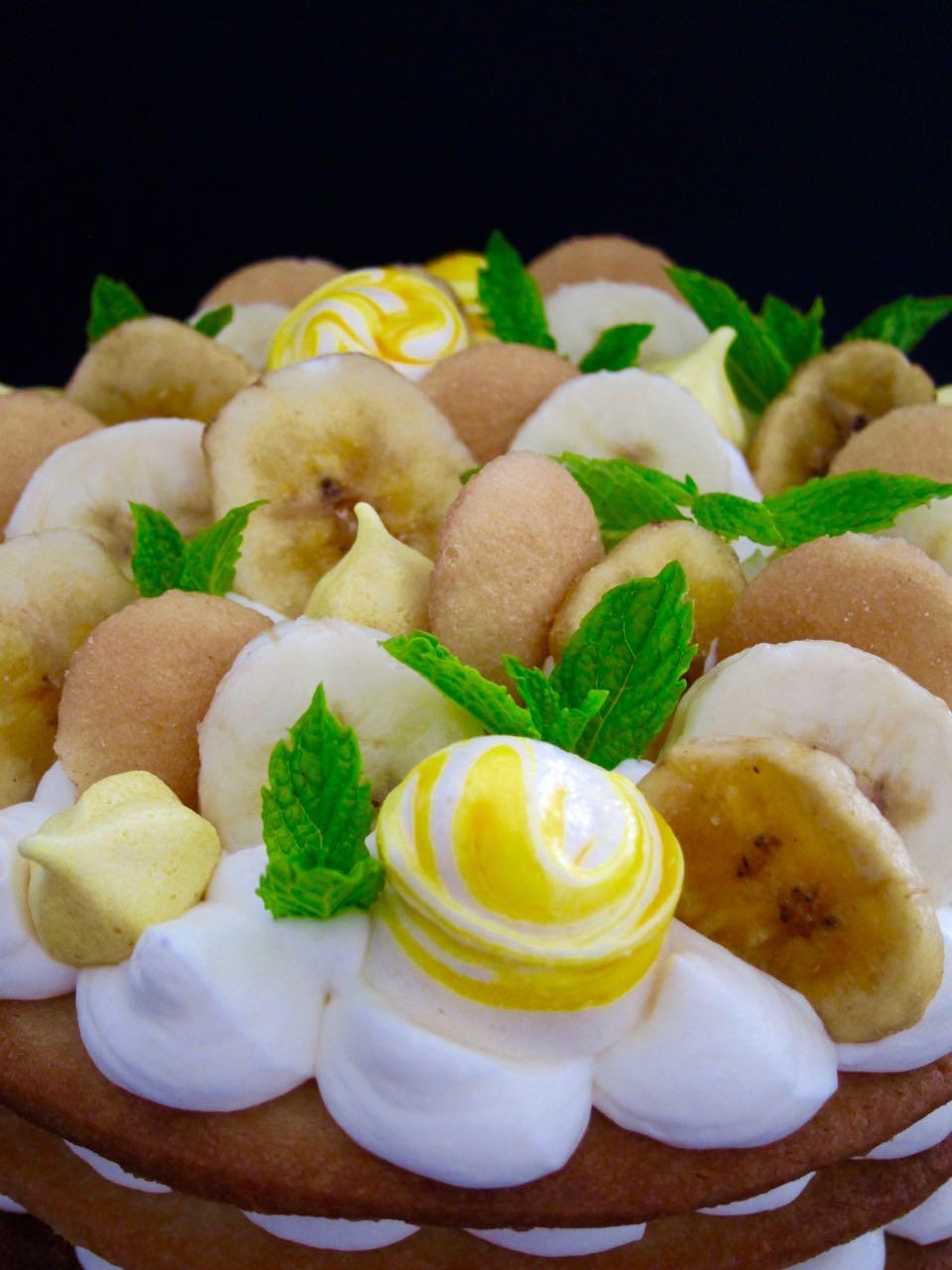 Banana Pudding Cream Tart top