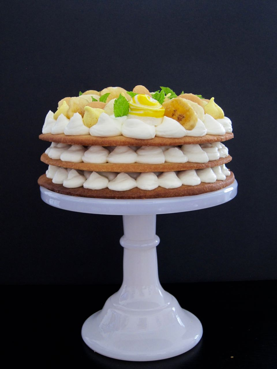 Banana Pudding Cream Tart