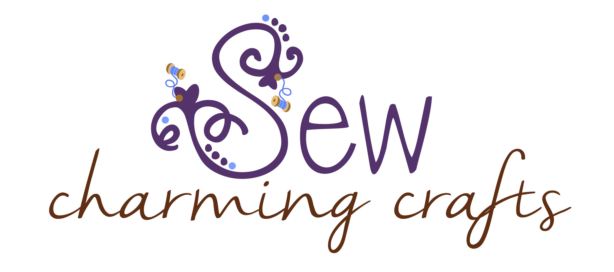 Sew Charming Crafts Saskatoon photographer Lisa Landrie logo design saskatoon
