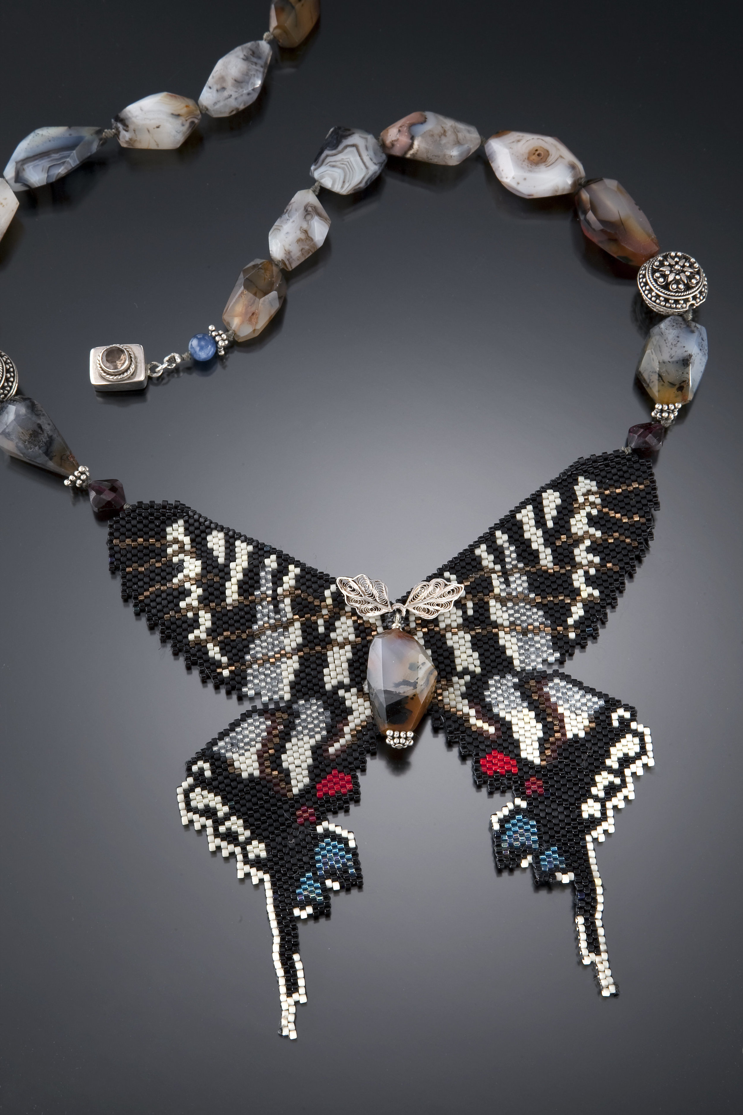 Zebra Swallowtail Butterfly Necklace