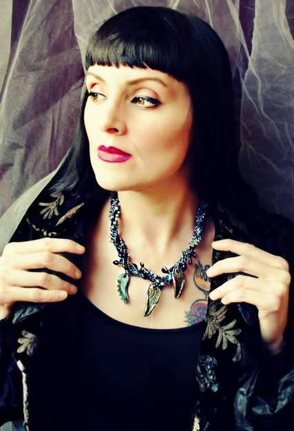 Black Swan Boa Necklace