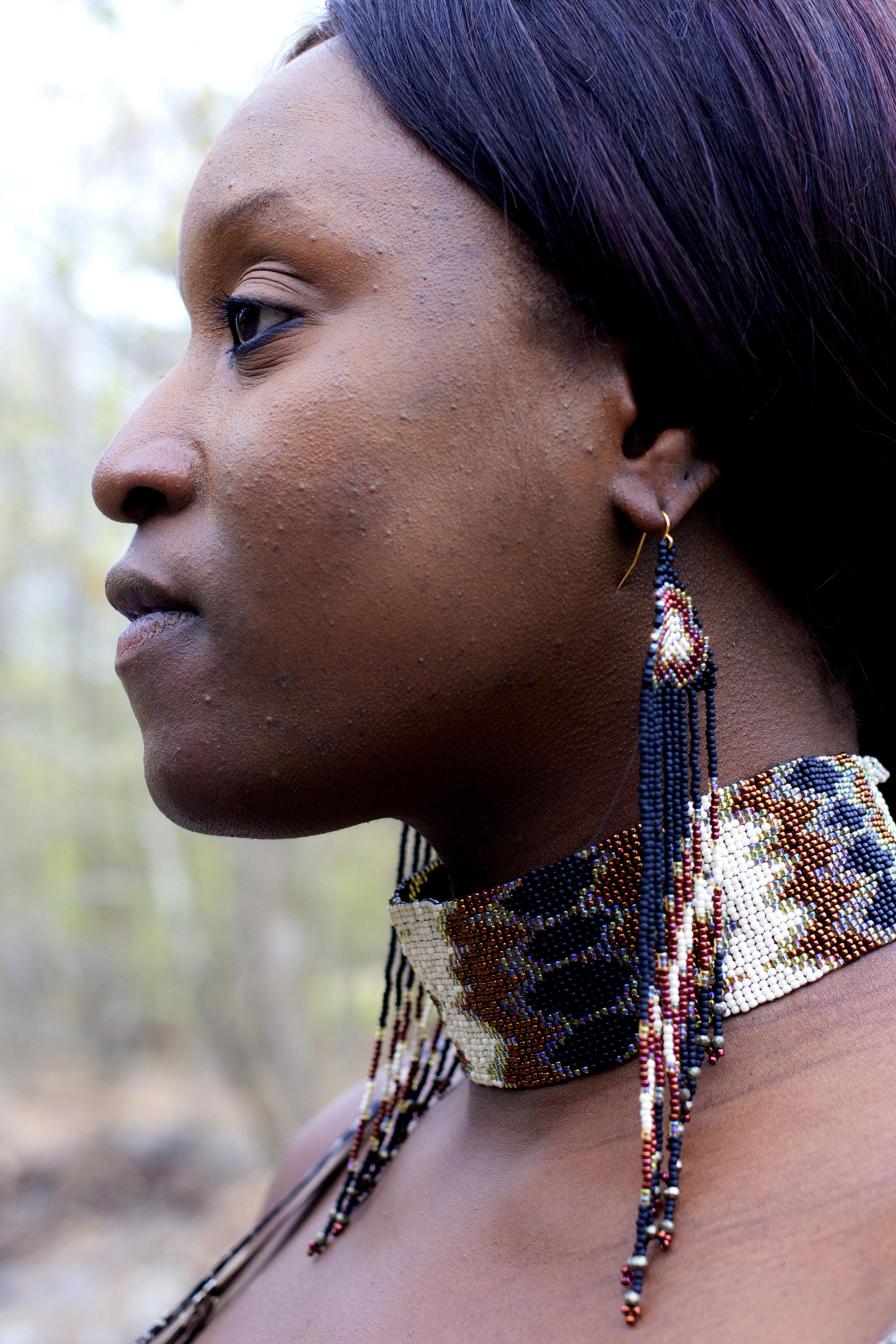 Diamondback Snake Necklace & Earrings