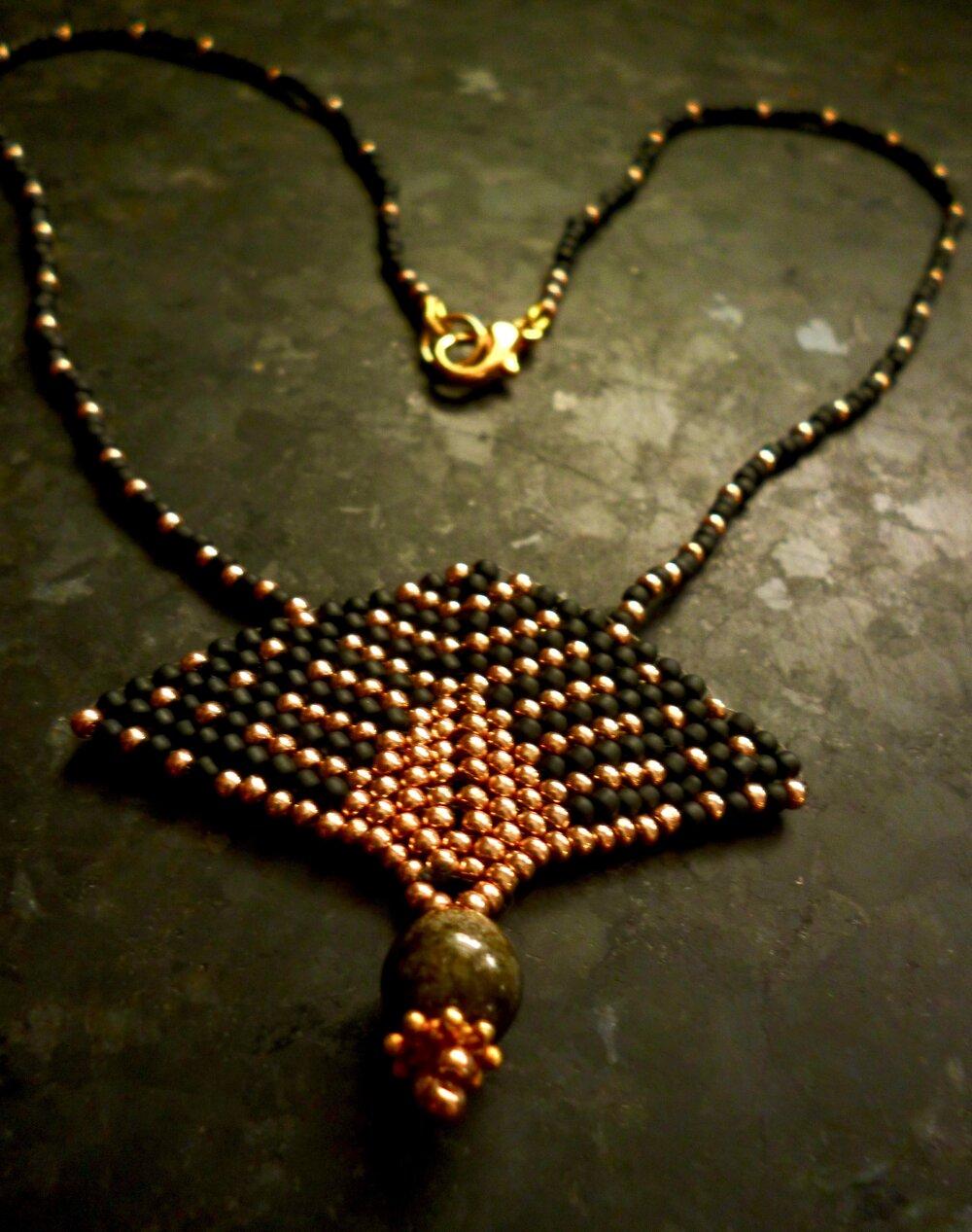 Golden-sheen Obsidian Choker