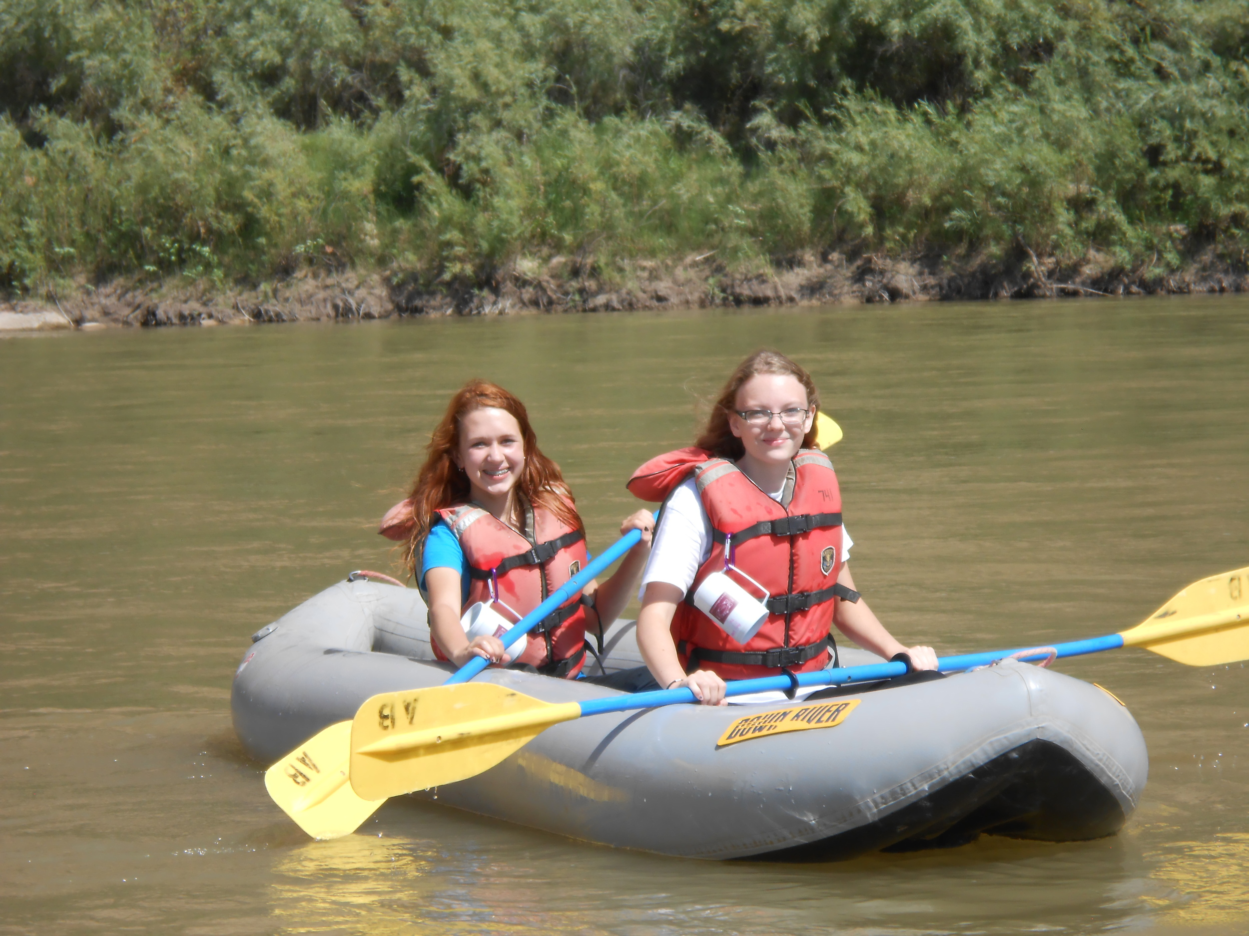 Central High Students enjoy their trip down Ruby Horsethief