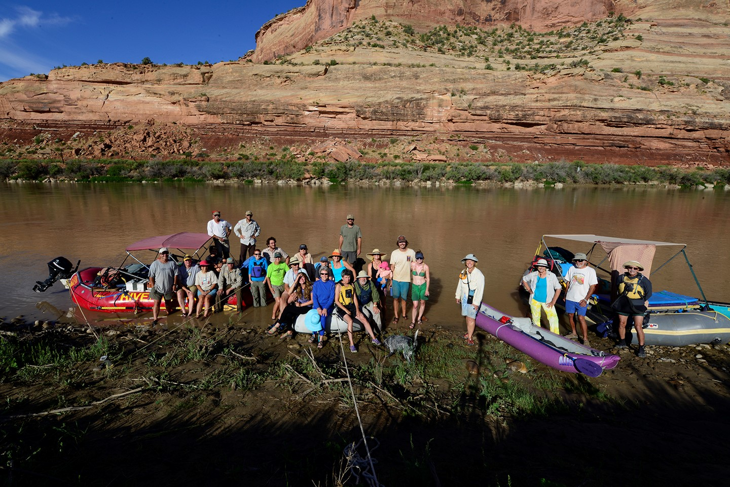 CCA volunteers enjoying Ruby and Horsethief Canyons on the Colorado River in the McInnis Canyon National Conservation Area.