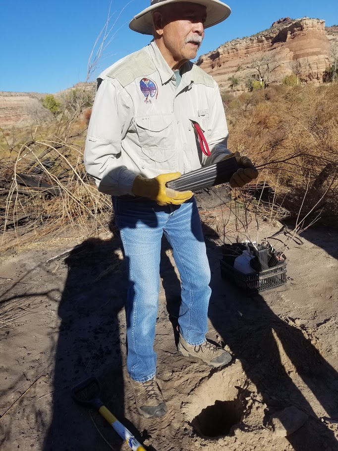 """Gabe Magtutu, """"I've been enjoying this stretch of river since 1981 and am happy I can get out there to help take care of it."""""""