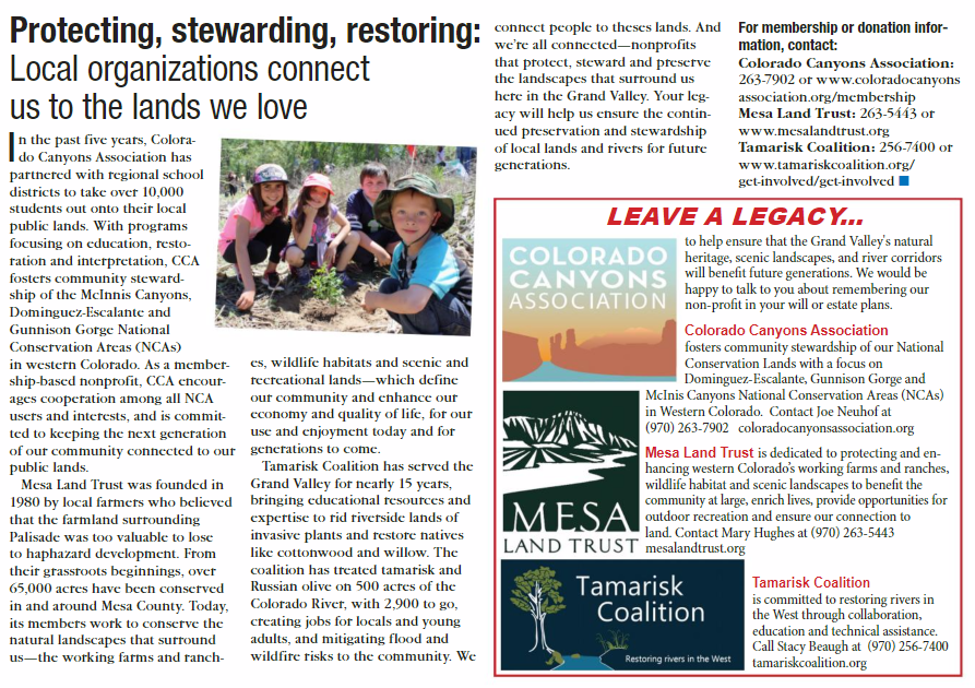"""A snapshot of our recent piece in the Beacon Newspaper's special section, """"Leaving A Legacy"""" currently available online and on newsstands this month!"""