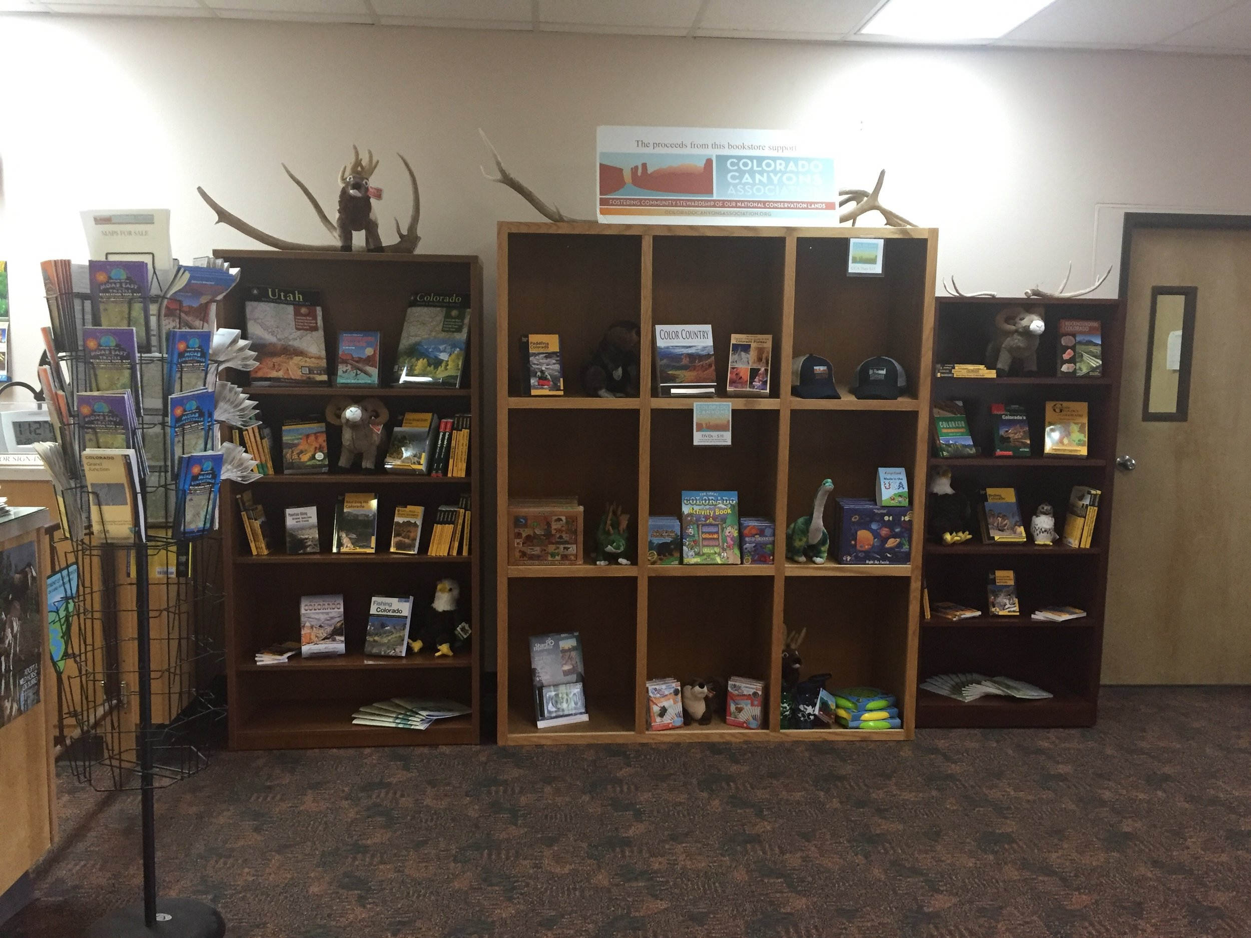 Are you in need of a new map or guidebook? What about a cute and fluffy stuffed animal? We have these and so much more at our new and improved bookstore!